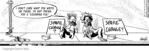 Comic Strip Darrin Bell  Candorville 2011-05-23 pay
