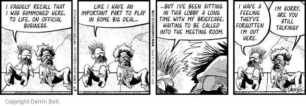Cartoonist Darrin Bell  Candorville 2011-05-26 recall