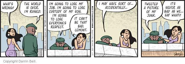 Comic Strip Darrin Bell  Candorville 2011-06-16 embarrassment