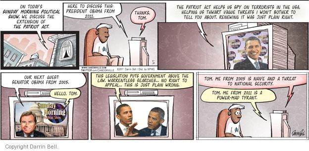 Comic Strip Darrin Bell  Candorville 2011-06-19 Obama terrorism