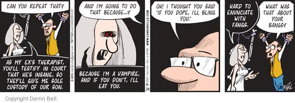 Comic Strip Darrin Bell  Candorville 2011-06-24 eat
