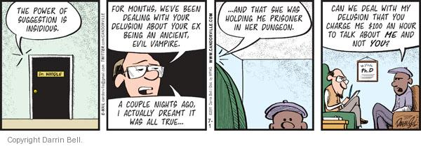 Comic Strip Darrin Bell  Candorville 2011-07-01 therapeutic