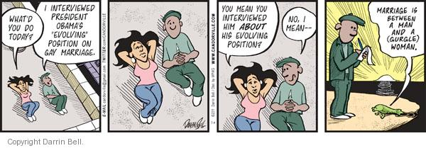 Comic Strip Darrin Bell  Candorville 2011-07-04 gay marriage