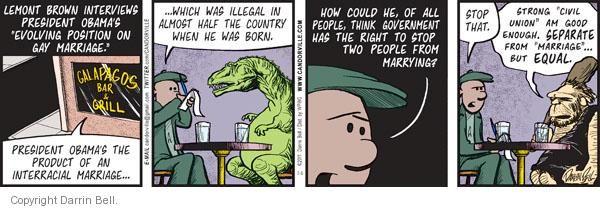 Comic Strip Darrin Bell  Candorville 2011-07-06 gay marriage