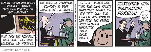 Comic Strip Darrin Bell  Candorville 2011-07-08 gay marriage