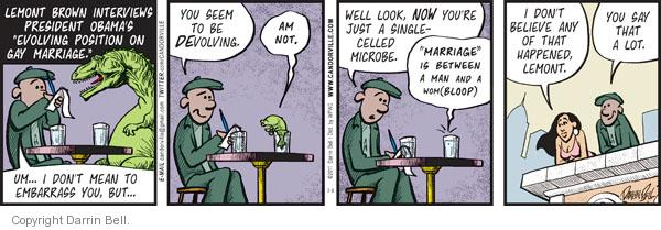 Comic Strip Darrin Bell  Candorville 2011-07-09 gay marriage