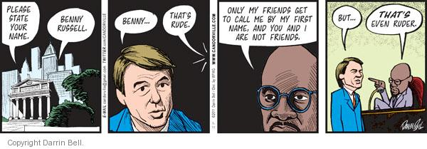 Comic Strip Darrin Bell  Candorville 2011-07-11 Russell