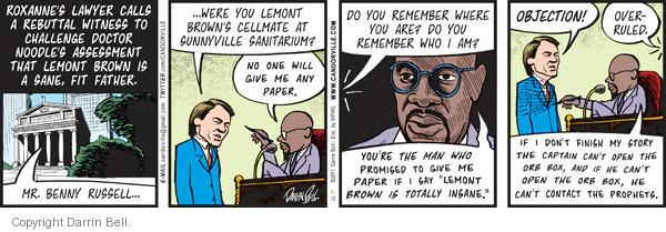Comic Strip Darrin Bell  Candorville 2011-07-12 courthouse