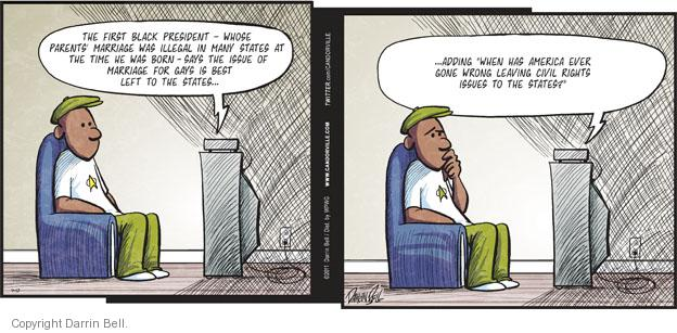 Comic Strip Darrin Bell  Candorville 2011-07-17 gay marriage