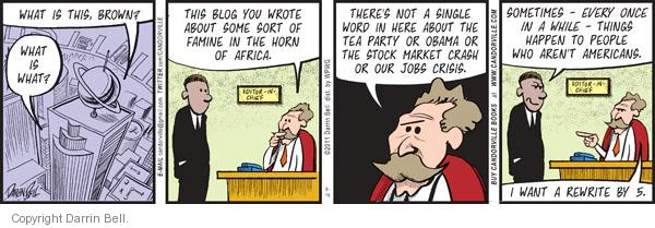 Comic Strip Darrin Bell  Candorville 2011-08-15 economy and job