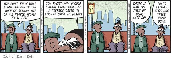 Comic Strip Darrin Bell  Candorville 2011-08-17 ethnic