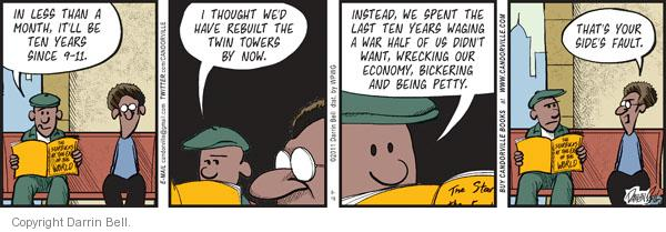 Comic Strip Darrin Bell  Candorville 2011-08-19 war on terror
