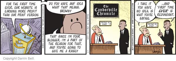 Cartoonist Darrin Bell  Candorville 2011-08-23 revenue