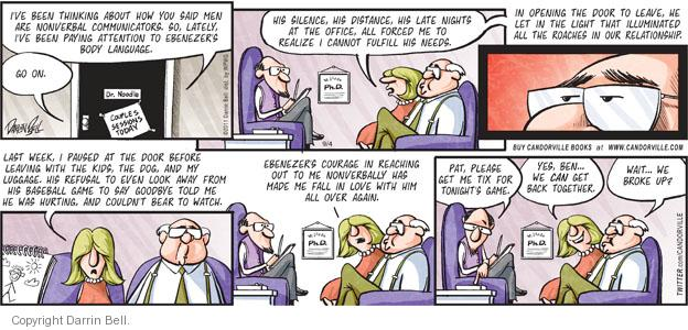 Comic Strip Darrin Bell  Candorville 2011-09-04 baseball