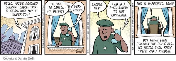 Comic Strip Darrin Bell  Candorville 2011-08-29 customer service