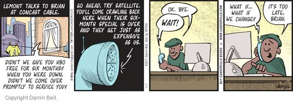 Comic Strip Darrin Bell  Candorville 2011-08-31 expense