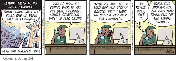 Comic Strip Darrin Bell  Candorville 2011-09-01 customer service