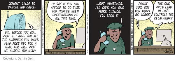 Comic Strip Darrin Bell  Candorville 2011-09-02 call