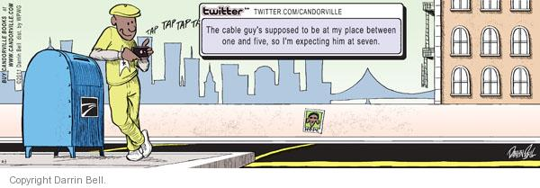 Cartoonist Darrin Bell  Candorville 2011-09-03 delay