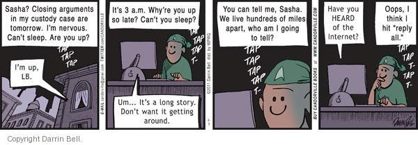 Comic Strip Darrin Bell  Candorville 2011-09-05 social media