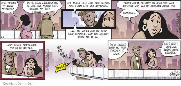 Comic Strip Darrin Bell  Candorville 2011-09-18 best friend