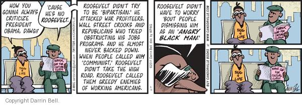 Comic Strip Darrin Bell  Candorville 2011-09-13 criticism