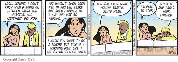 Comic Strip Darrin Bell  Candorville 2011-09-21 abuse