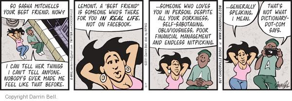 Cartoonist Darrin Bell  Candorville 2011-09-23 financial management
