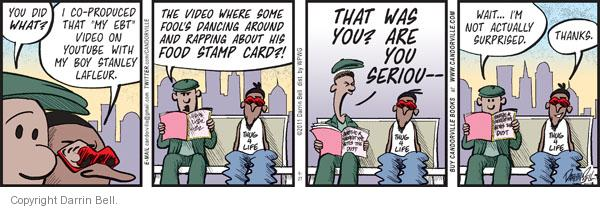 Comic Strip Darrin Bell  Candorville 2011-09-27 food stamp