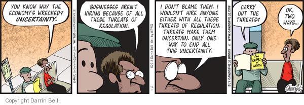 Comic Strip Darrin Bell  Candorville 2011-10-07 regulation