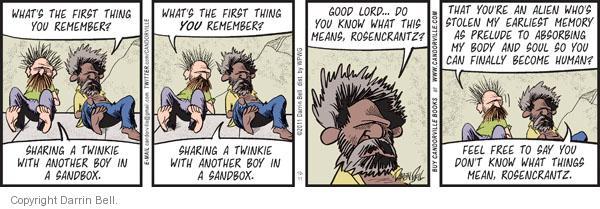 Comic Strip Darrin Bell  Candorville 2011-10-11 good boy