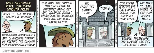 Cartoonist Darrin Bell  Candorville 2011-10-18 politics