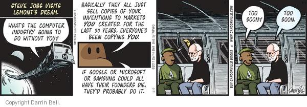Comic Strip Darrin Bell  Candorville 2011-10-19 Steve Jobs Apple