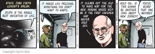 Comic Strip Darrin Bell  Candorville 2011-10-20 Steve Jobs Apple
