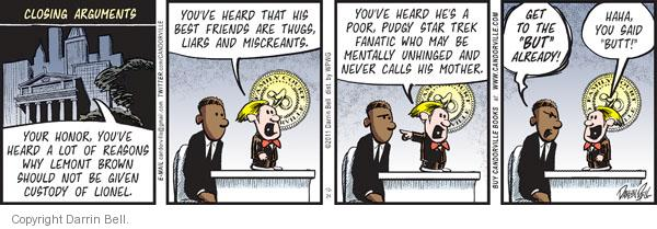 Comic Strip Darrin Bell  Candorville 2011-10-24 argument