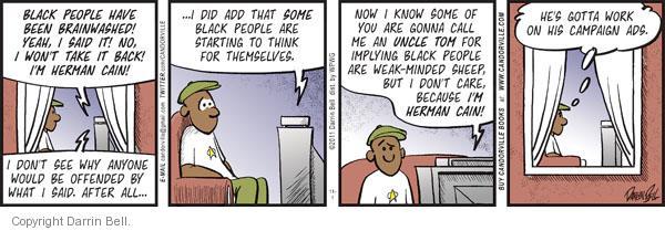 Comic Strip Darrin Bell  Candorville 2011-11-01 call