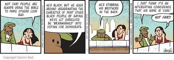 Comic Strip Darrin Bell  Candorville 2011-11-03 bible