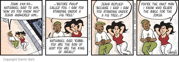Comic Strip Darrin Bell  Candorville 2011-11-04 disciple