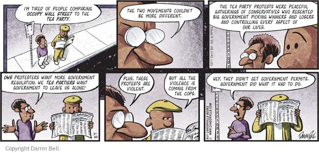Comic Strip Darrin Bell  Candorville 2011-11-20 occupy