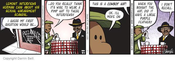 Comic Strip Darrin Bell  Candorville 2011-11-07 hat