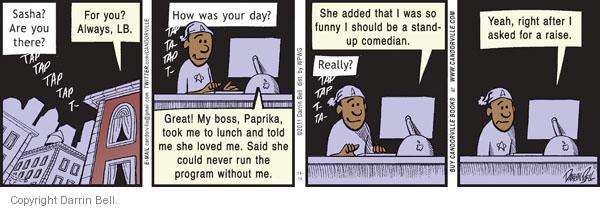 Comic Strip Darrin Bell  Candorville 2011-11-14 lunch
