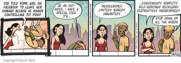 Comic Strip Darrin Bell  Candorville 2011-11-19 destructive