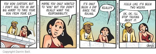 Comic Strip Darrin Bell  Candorville 2011-11-21 hurry