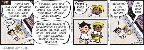 Comic Strip Darrin Bell  Candorville 2011-12-01 spend money