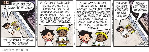Comic Strip Darrin Bell  Candorville 2011-12-03 peace