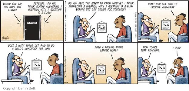 Comic Strip Darrin Bell  Candorville 2011-12-18 math
