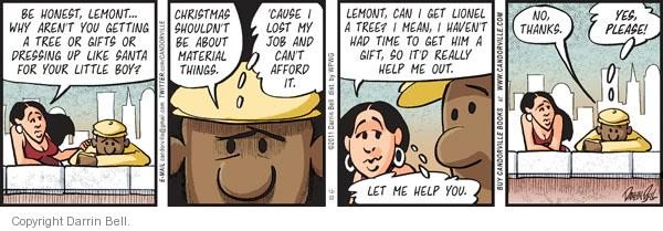 Comic Strip Darrin Bell  Candorville 2011-12-22 economy and job