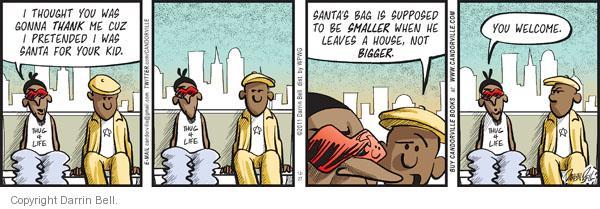 Cartoonist Darrin Bell  Candorville 2011-12-27 claus