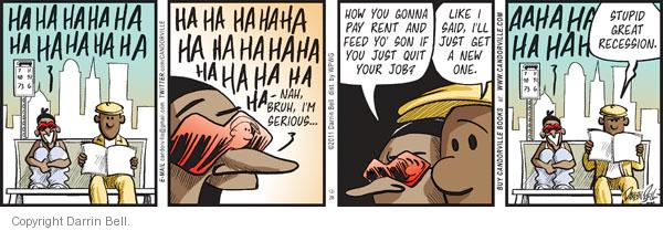 Comic Strip Darrin Bell  Candorville 2011-12-28 economy and job
