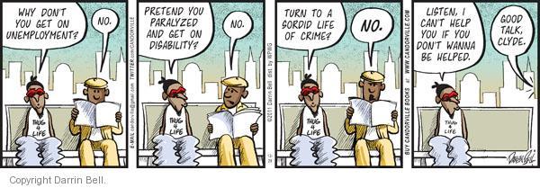 Comic Strip Darrin Bell  Candorville 2011-12-29 assistance